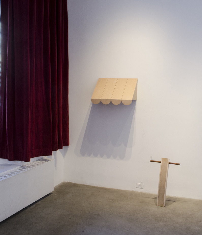 An Awning and Its Fellow, 2015 MDF, MDO, Dowel (20x25x15) and (20x10x3)