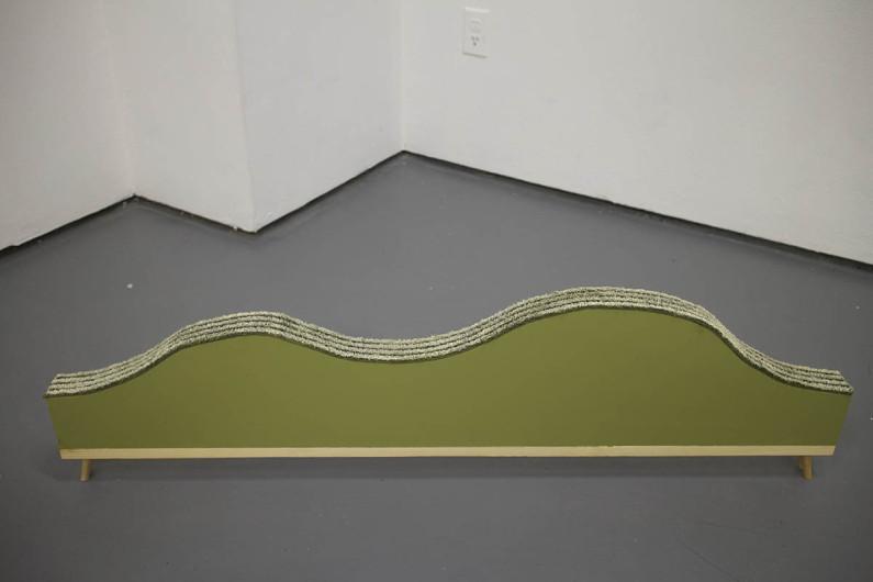 Terrain2go, 2015 Carpet, MDF, Pine, Paint (8x32x2)
