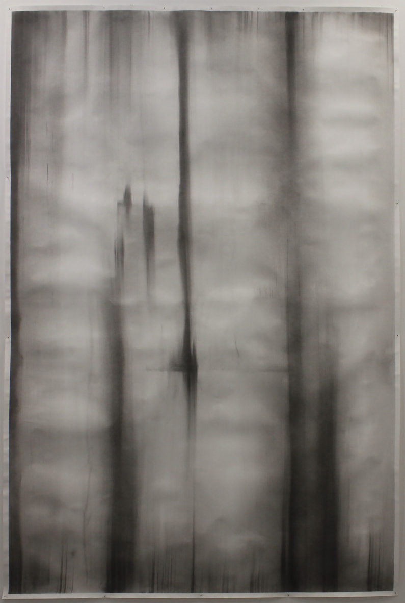 """Frame,"" 2015 Charcoal on Paper 58 x 96 inches"