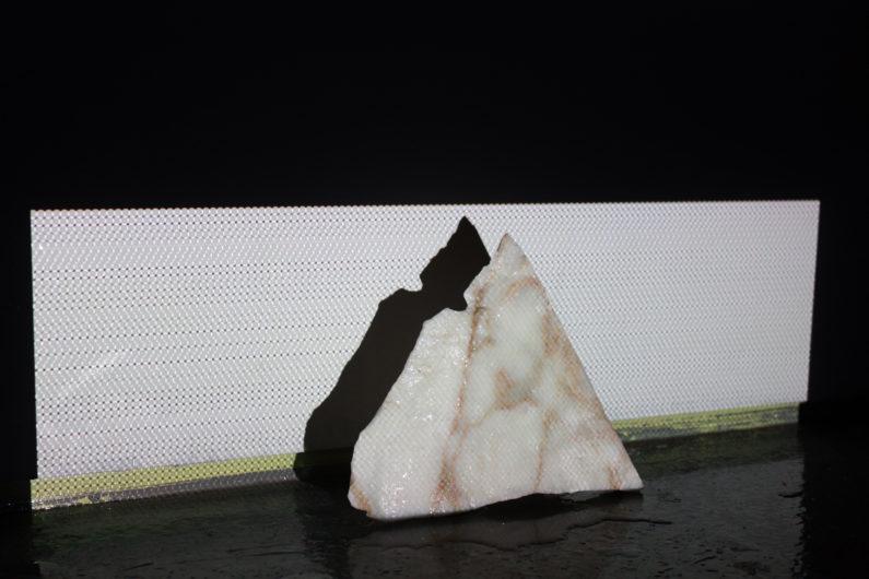 Untitled, 2017 Marble, software, salt water, hardware