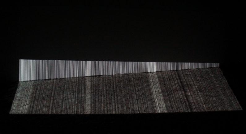 Untitled, 2017 3 Channel custom software projection, salt, ink
