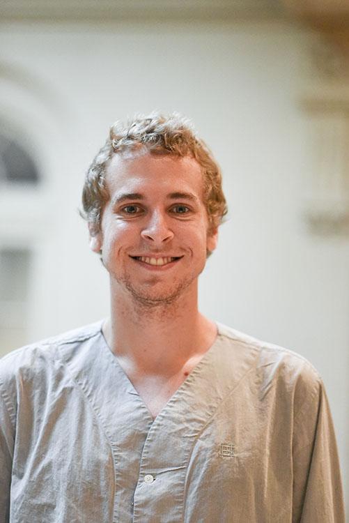 Portrait of Blake Oetting in the Duke House