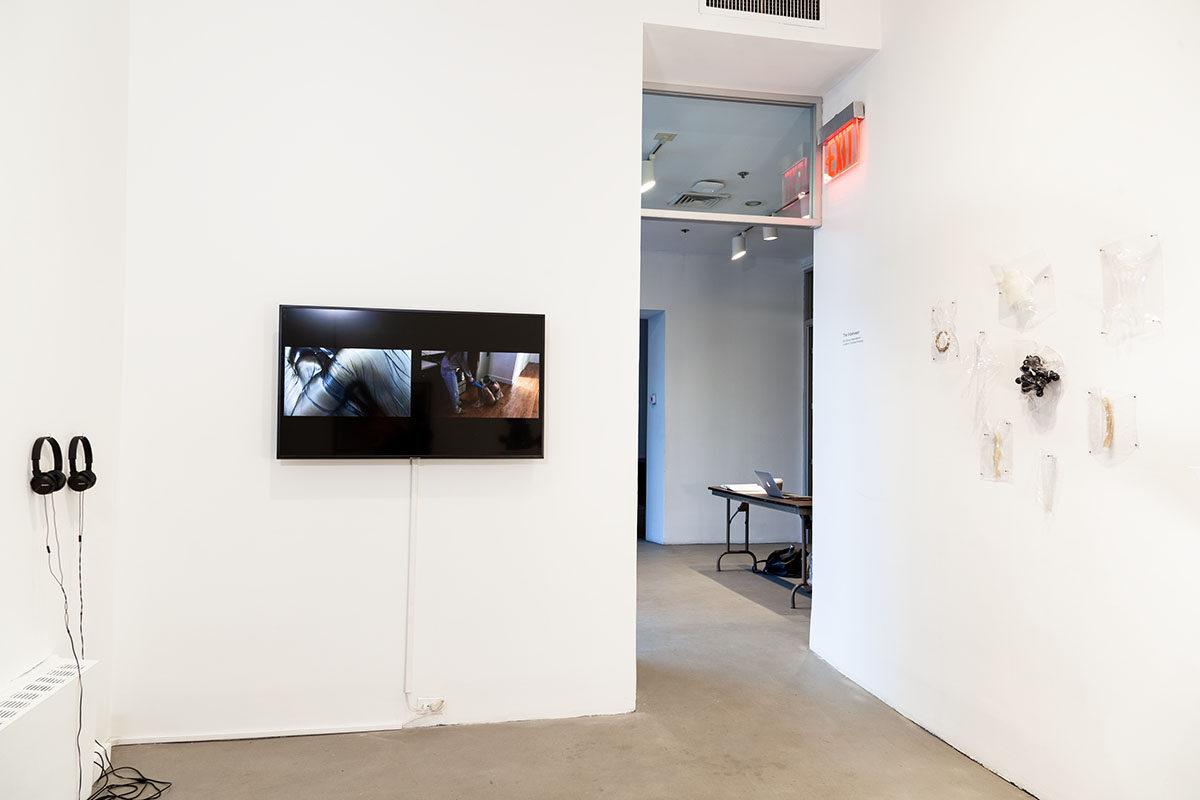 "Installation view of ""The Inbetween"""
