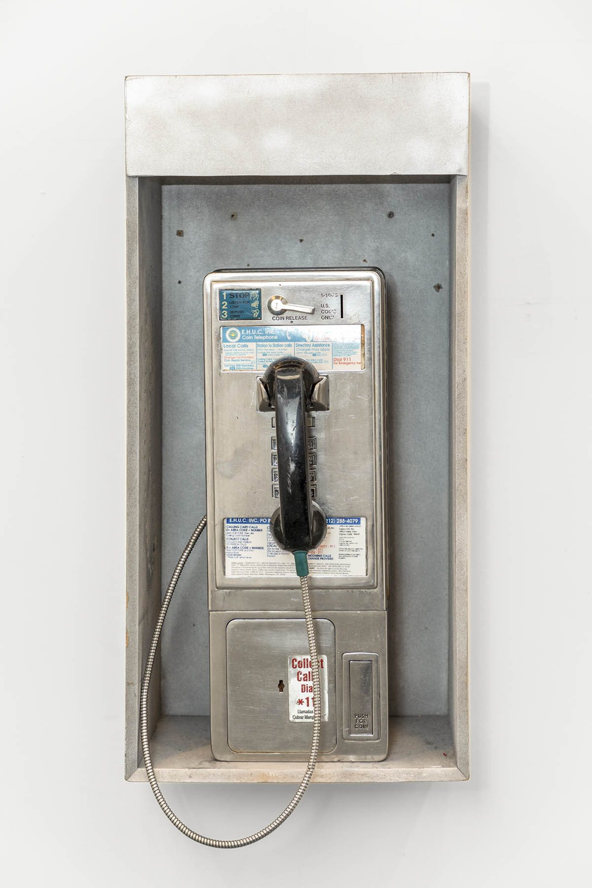 Sculpture of an old fashioned payphone